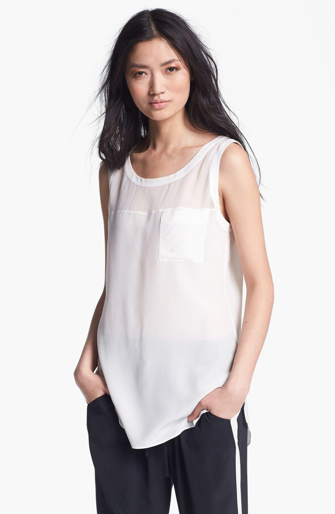 Alternate Image 1 Selected - Rachel Zoe 'Anderson' Sleeveless Silk Blouse