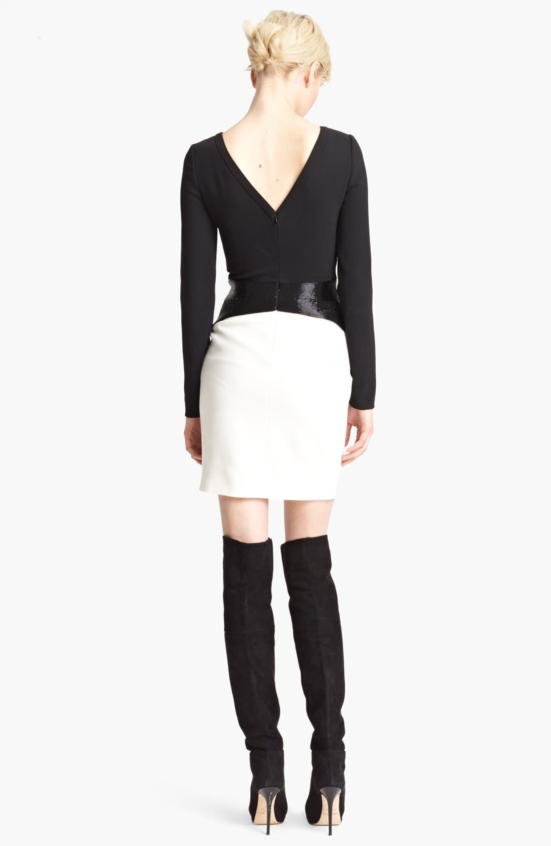 Alternate Image 2  - Emilio Pucci Bicolor Stretch Wool Dress