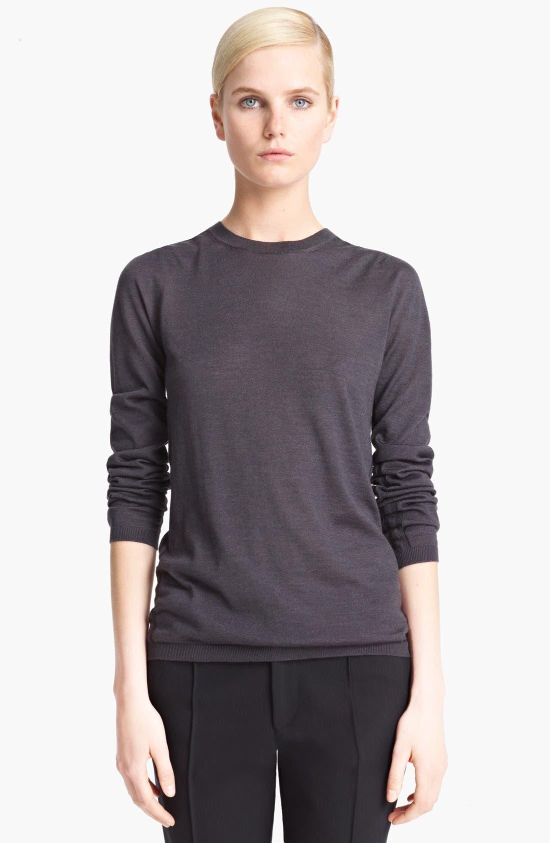 Alternate Image 1 Selected - Jil Sander Cashmere & Silk Crewneck Sweater