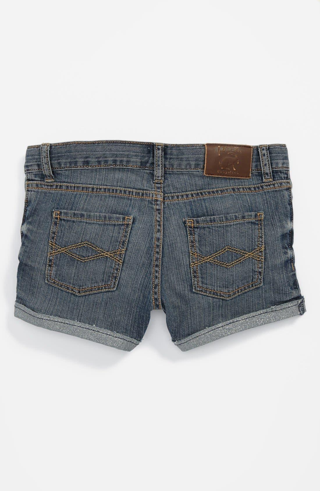 Alternate Image 1 Selected - Peek 'New Morgan' Denim Shorts (Big Girls)