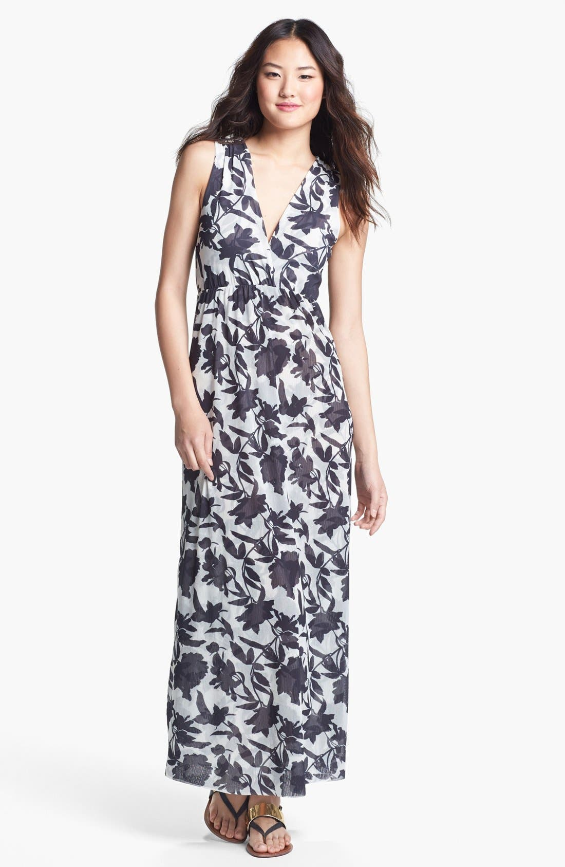 Alternate Image 1 Selected - Sweet Pea by Stacy Frati Print Maxi Dress