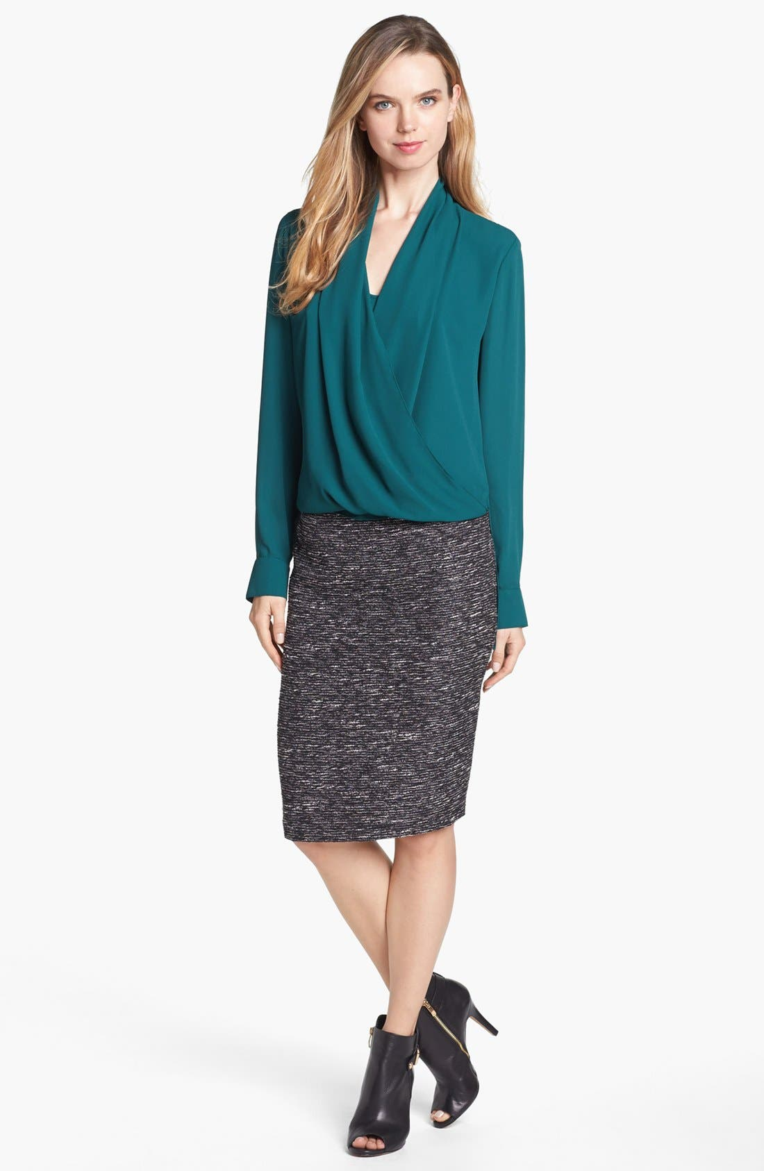 Alternate Image 6  - Vince Camuto Metallic Tweed Pencil Skirt