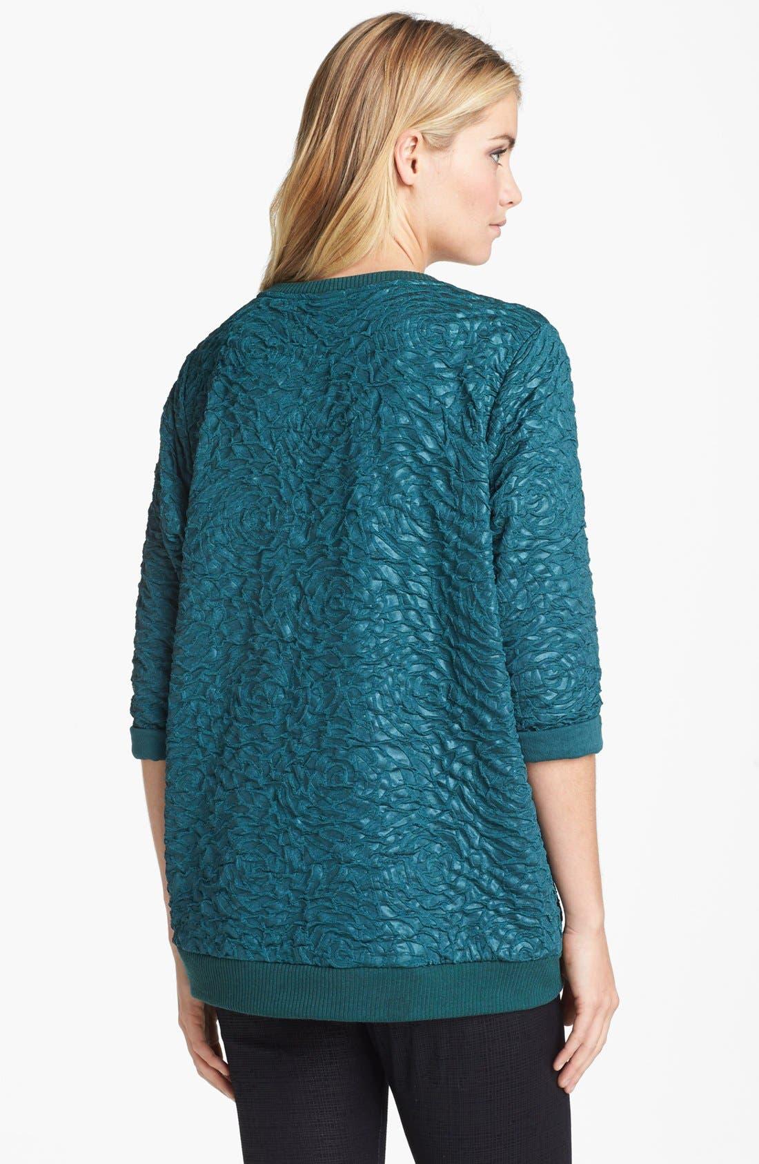 Alternate Image 2  - Bobeau Textured Sweatshirt