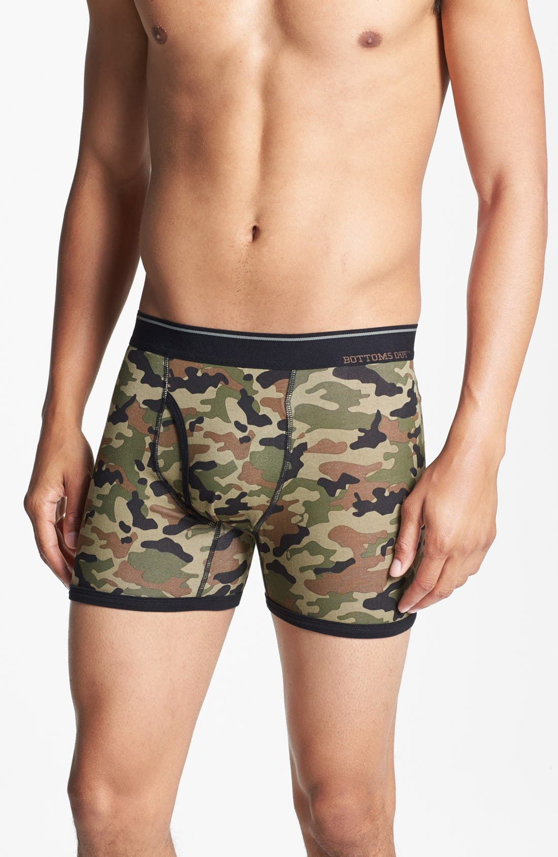 Alternate Image 1 Selected - Basic Underwear 'Bottoms Out' Boxer Briefs (3-Pack)