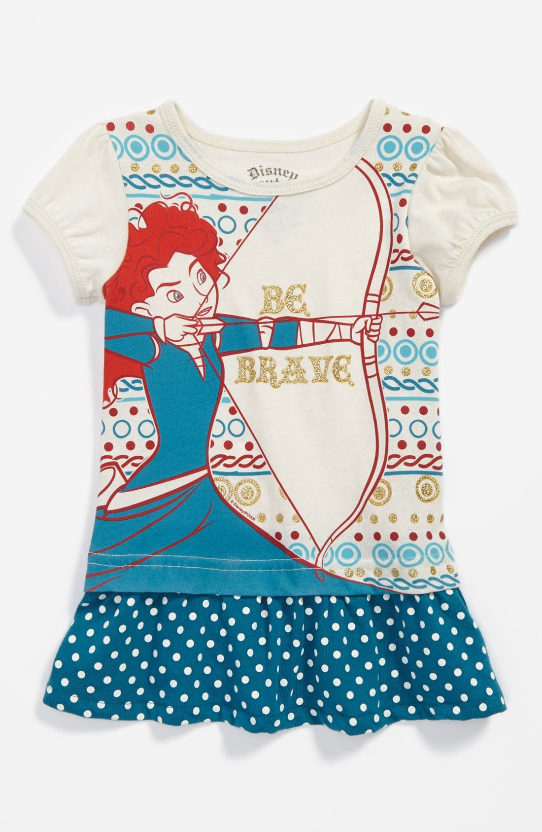 Alternate Image 1 Selected - Mighty Fine 'Merida' Tee (Toddler Girls)