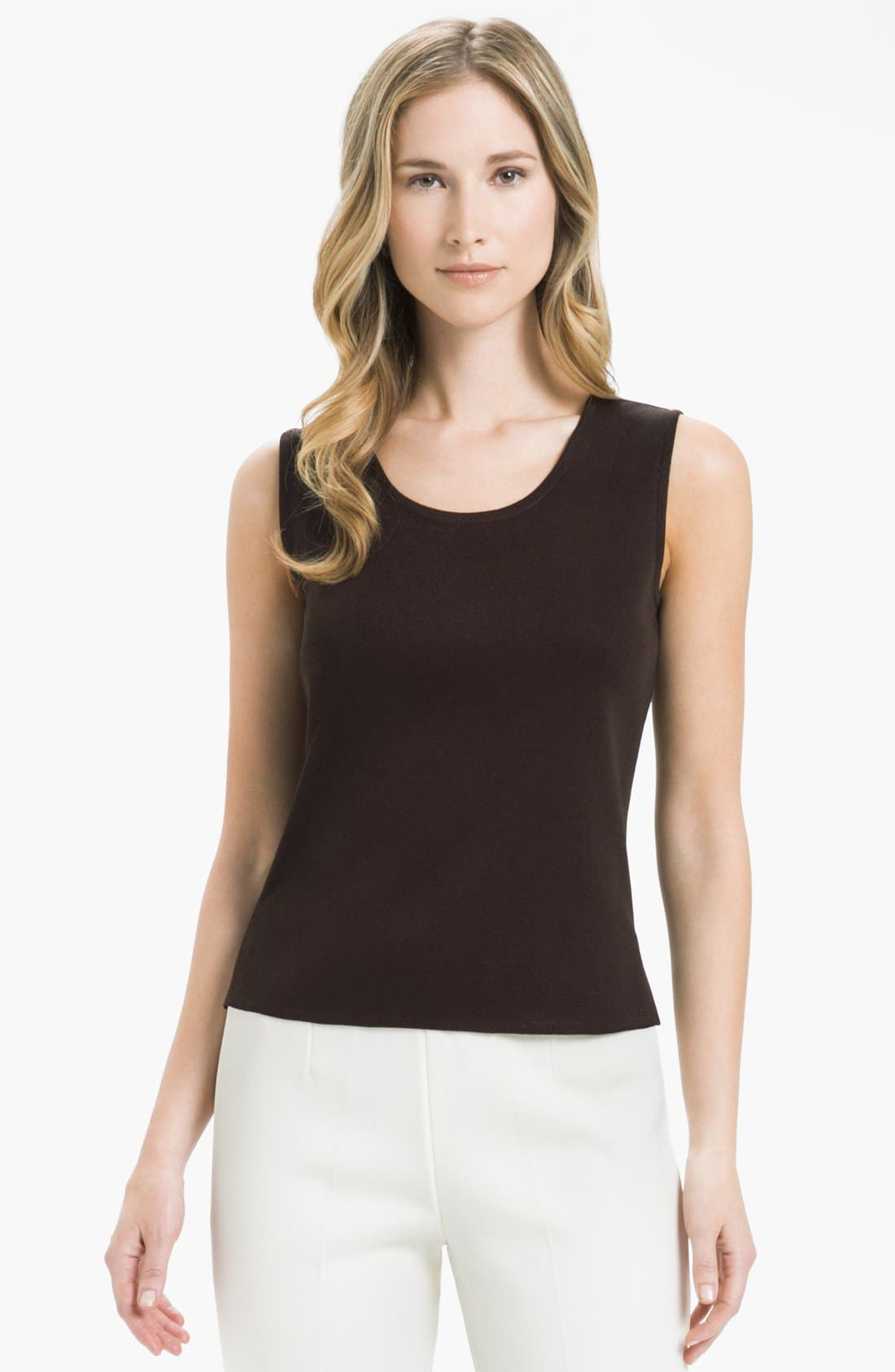 Alternate Image 1 Selected - Ming Wang Scoop Neck Tank