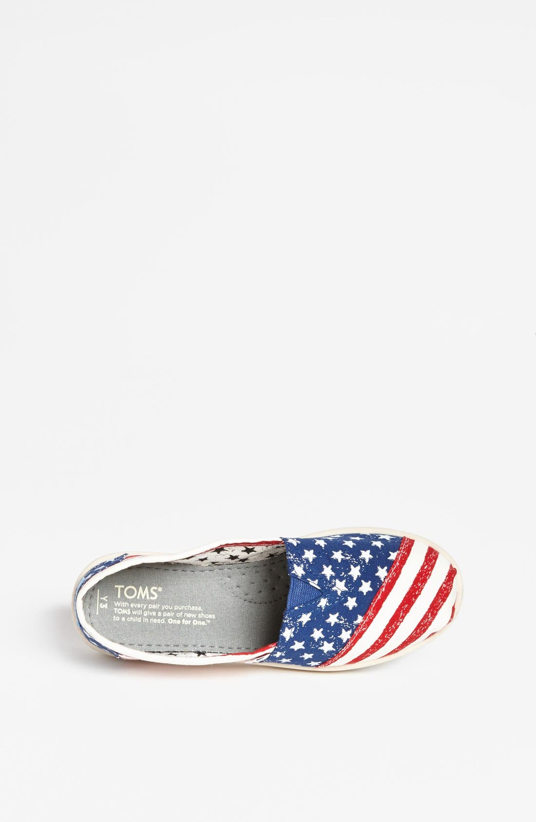 Alternate Image 3  - TOMS 'Classic Youth - Stars & Stripes' Slip-On (Toddler, Little Kid & Big Kid)