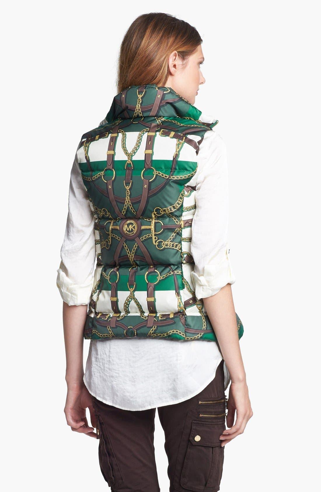 Alternate Image 2  - MICHAEL Michael Kors Print Down Vest