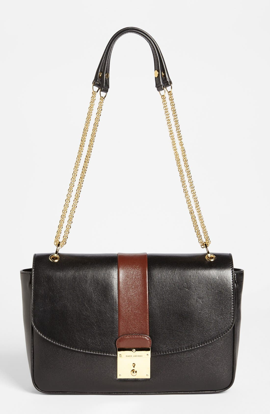 Main Image - MARC JACOBS 'Checkers - Polly' Leather Shoulder Bag