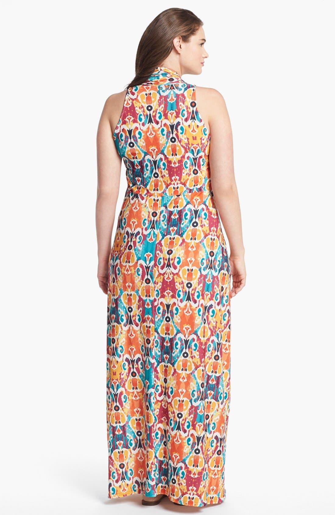 Alternate Image 2  - Viereck 'Vendome' Print Maxi Dress (Plus Size)