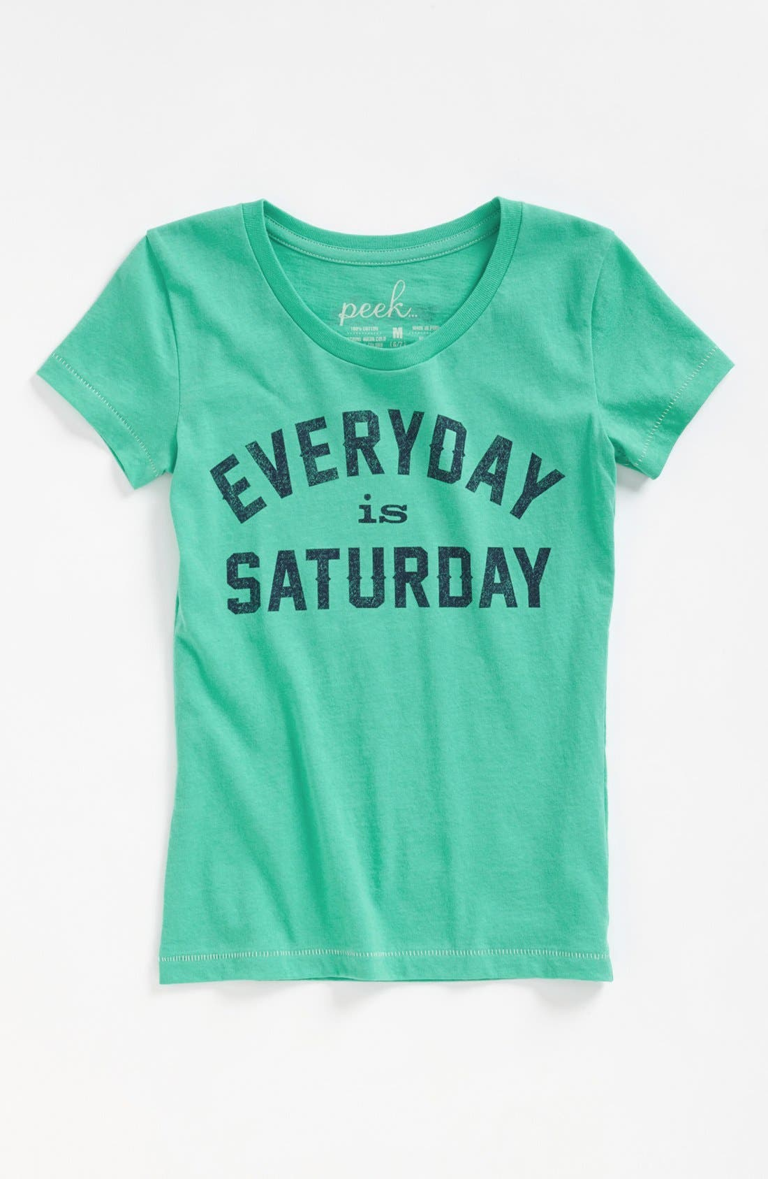 Alternate Image 1 Selected - Peek 'Everyday is Saturday' Tee (Toddler Girls, Little Girls & Big Girls)