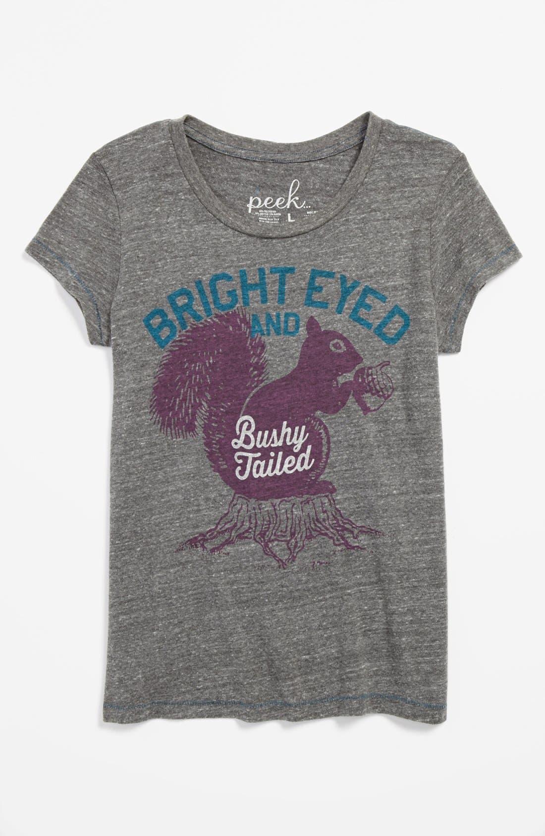 Alternate Image 1 Selected - Peek 'Bright Eyed' Tee (Toddler Girls, Little Girls & Big Girls)