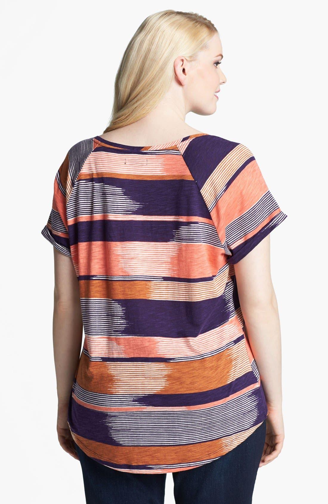 Alternate Image 2  - Lucky Brand 'Alina' Stripe Tee (Plus)