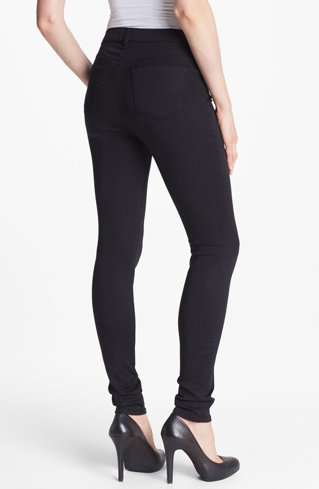 Alternate Image 2  - J Brand '3402' Denim Maternity Leggings (Black)