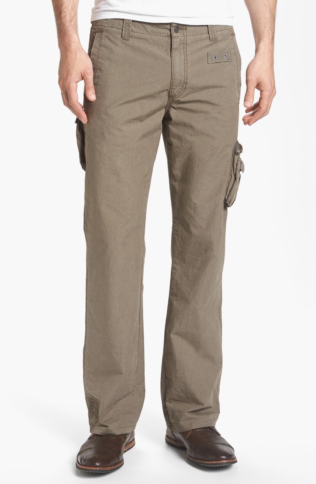 Alternate Image 1 Selected - John Varvatos Star USA 'Explorer' Linen Cargo Pants