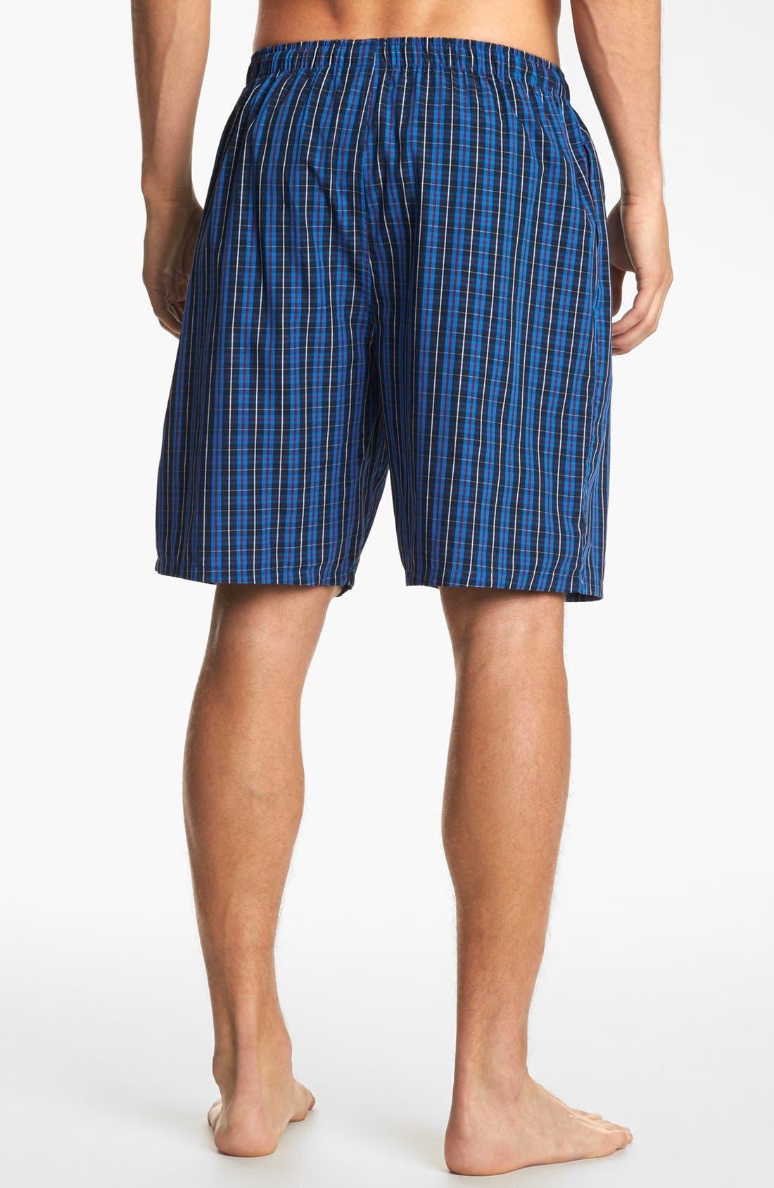Woven Pajama Shorts,                             Alternate thumbnail 2, color,                             Harwich Plaid