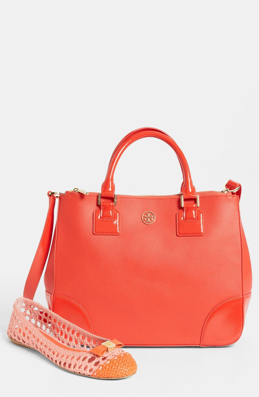 Alternate Image 5  - Tory Burch 'Robinson' Double Zip Leather Tote
