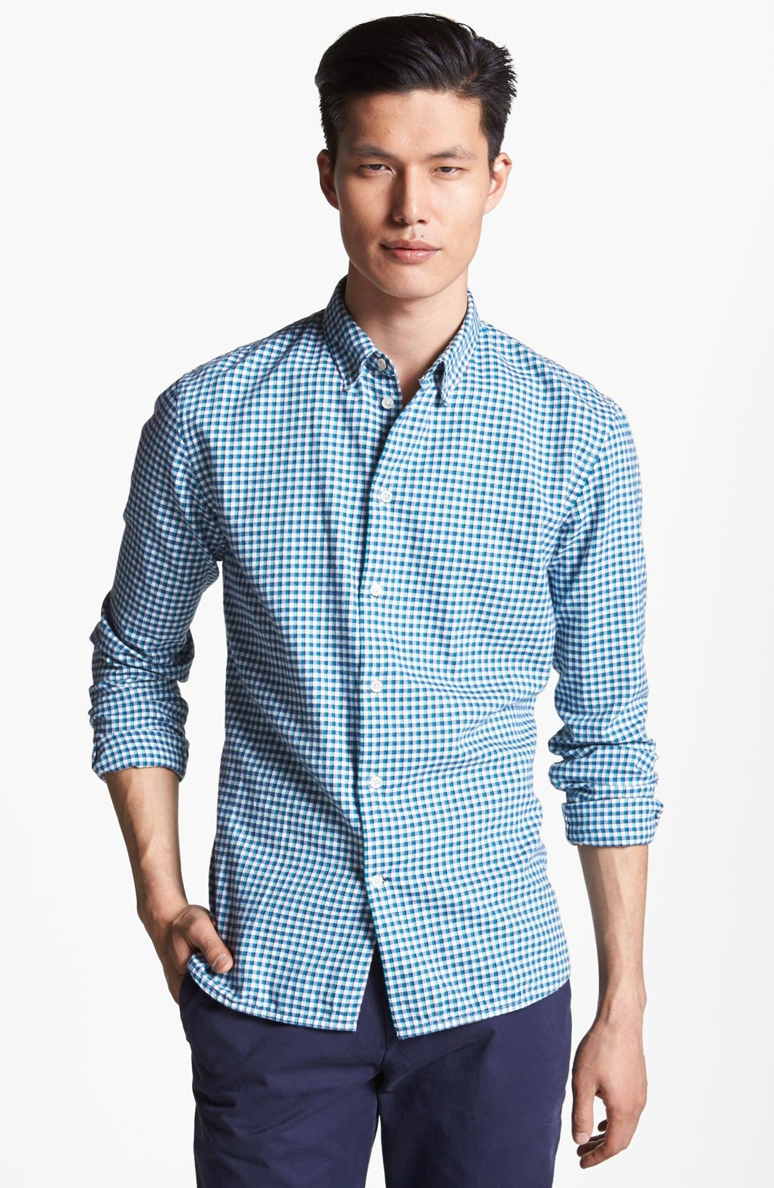 Alternate Image 1 Selected - Paul Smith Jeans Slim Fit Check Flannel Shirt