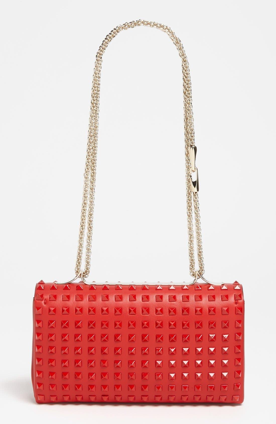 Alternate Image 4  - Valentino 'Rockstud - Rouge Va Va Voom' Leather Shoulder Bag