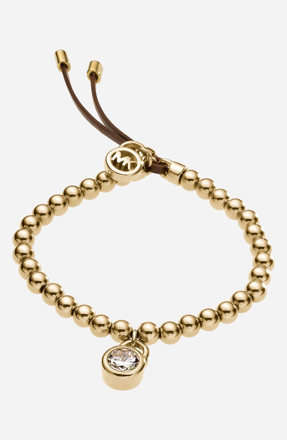 Alternate Image 1 Selected - Michael Kors 'Brilliance' Beaded Stretch Bracelet