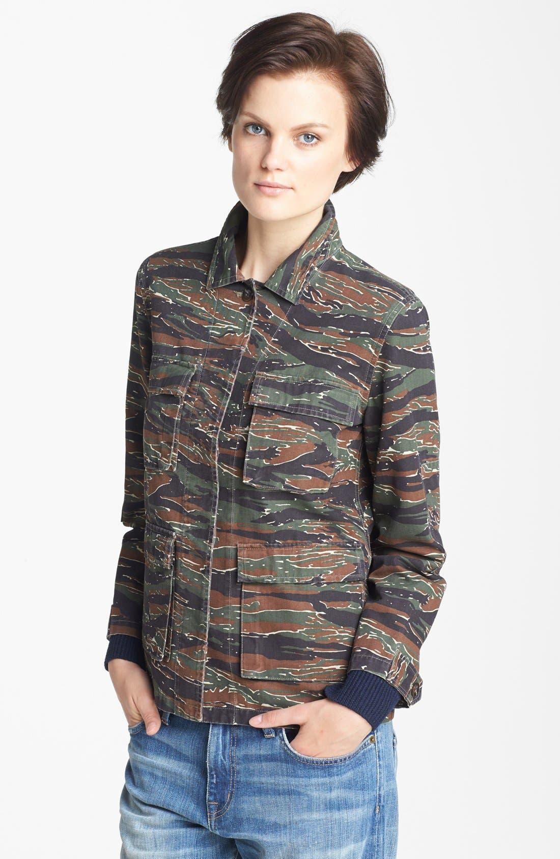 Alternate Image 3  - A.P.C. Vintage Camouflage Jacket