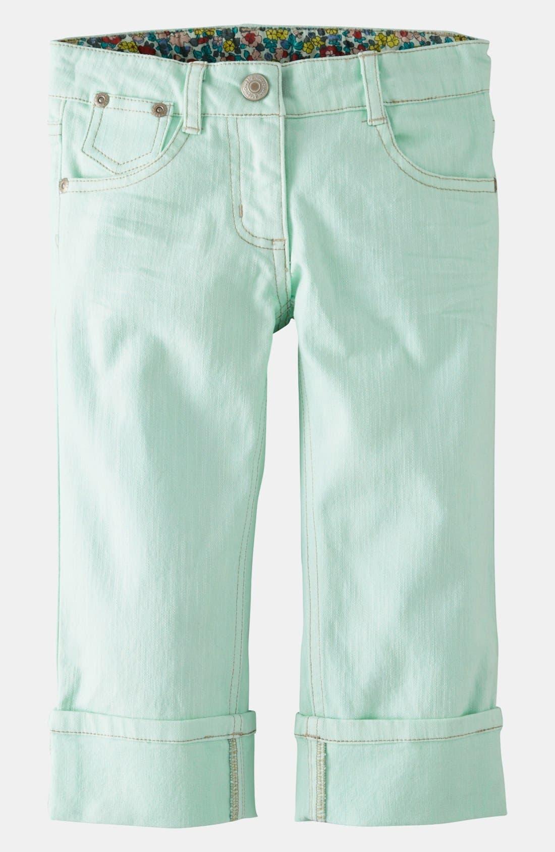 Alternate Image 1 Selected - Mini Boden Crop Jeans (Toddler, Little Girls & Big Girls)