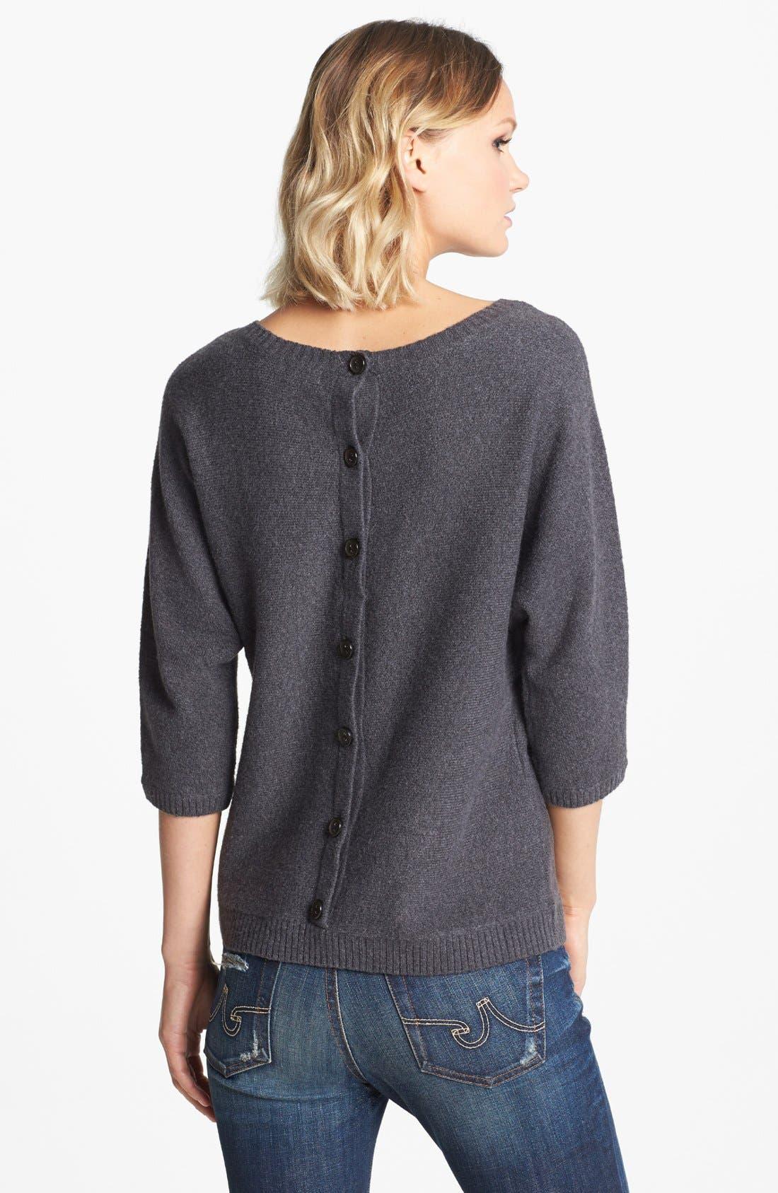 Alternate Image 2  - Hinge® Button Back Sweater