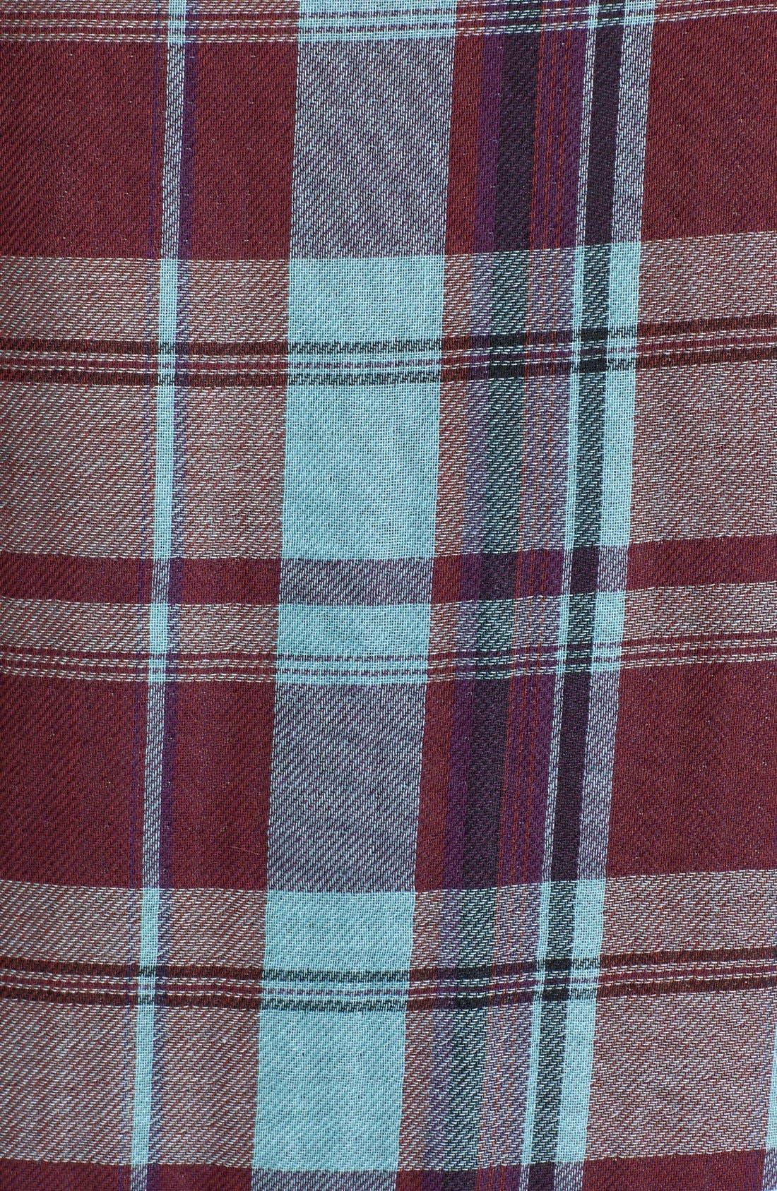 Denim 'Kadie' Plaid Shirt,                             Alternate thumbnail 3, color,                             Smitten