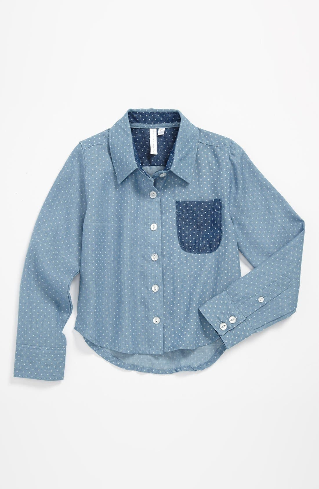 Alternate Image 1 Selected - gingham by Sovereign Code 'Starry Night' Shirt (Toddler Girls)