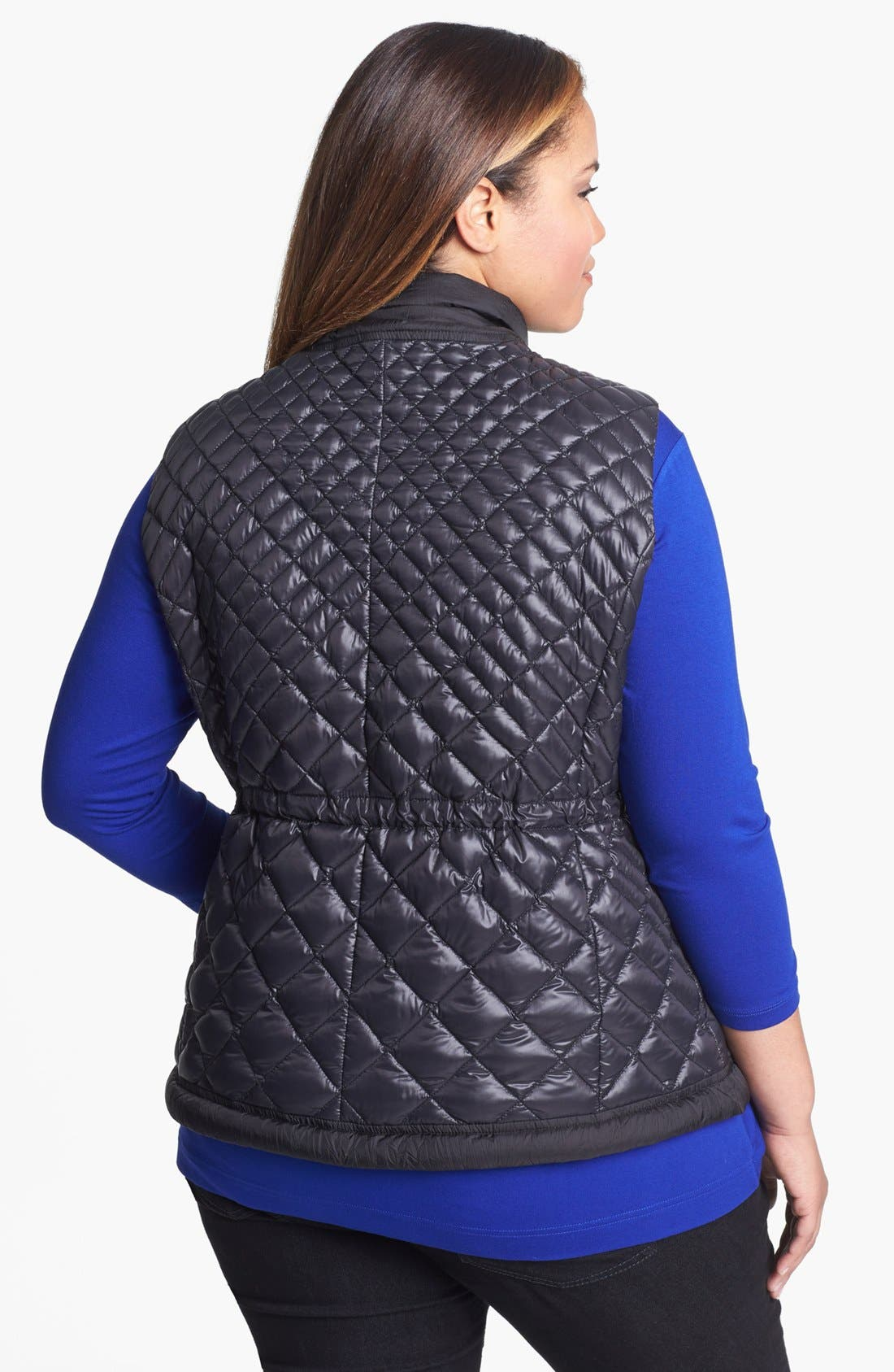 Alternate Image 2  - Bernardo Packable Goose Down Anorak Vest (Plus Size)