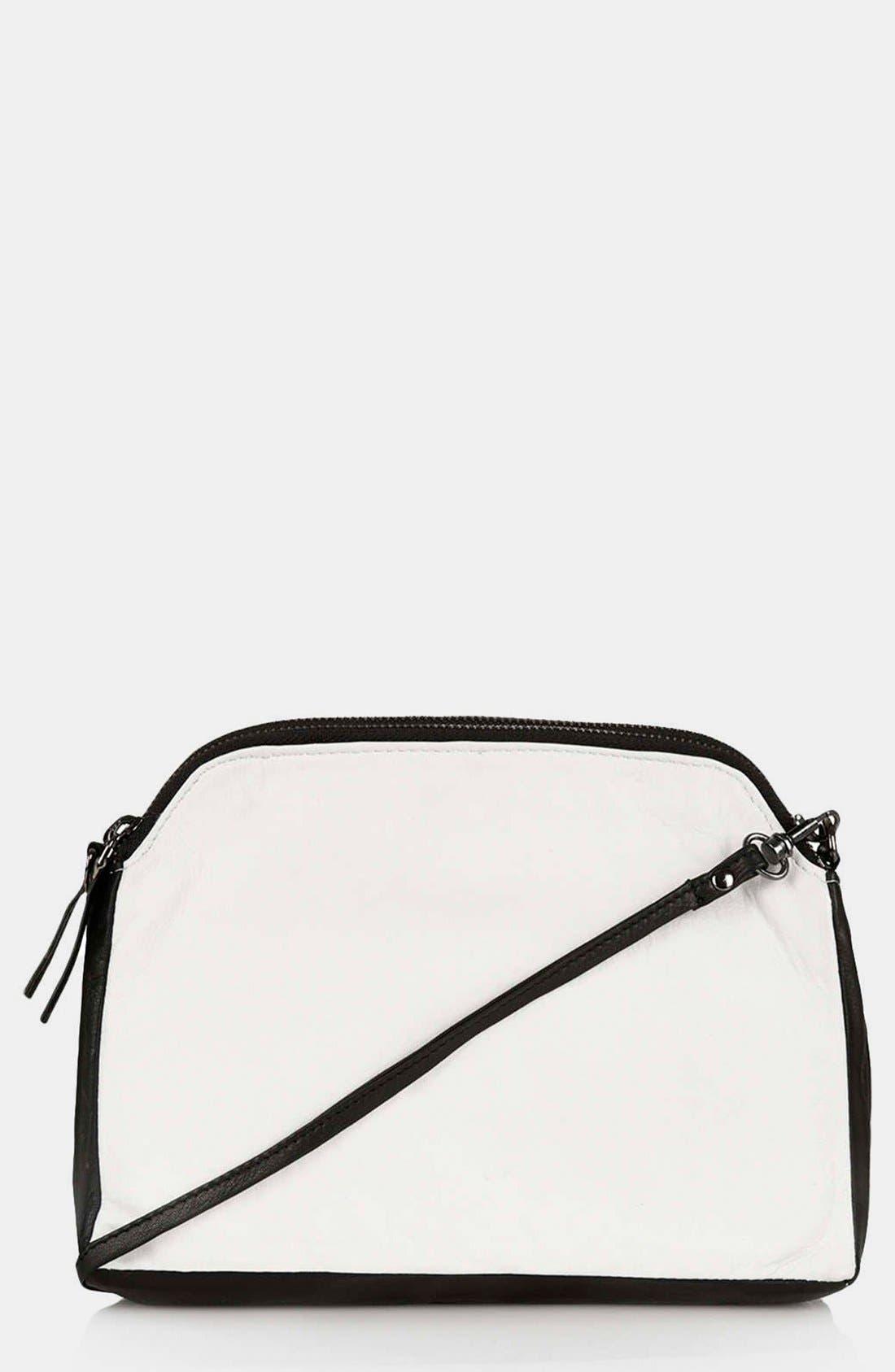 Alternate Image 1 Selected - Topshop Double Zip Crossbody Bag