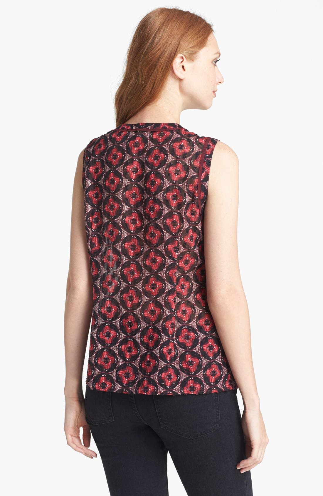 Alternate Image 2  - Tory Burch 'Libby' Cotton & Silk Top