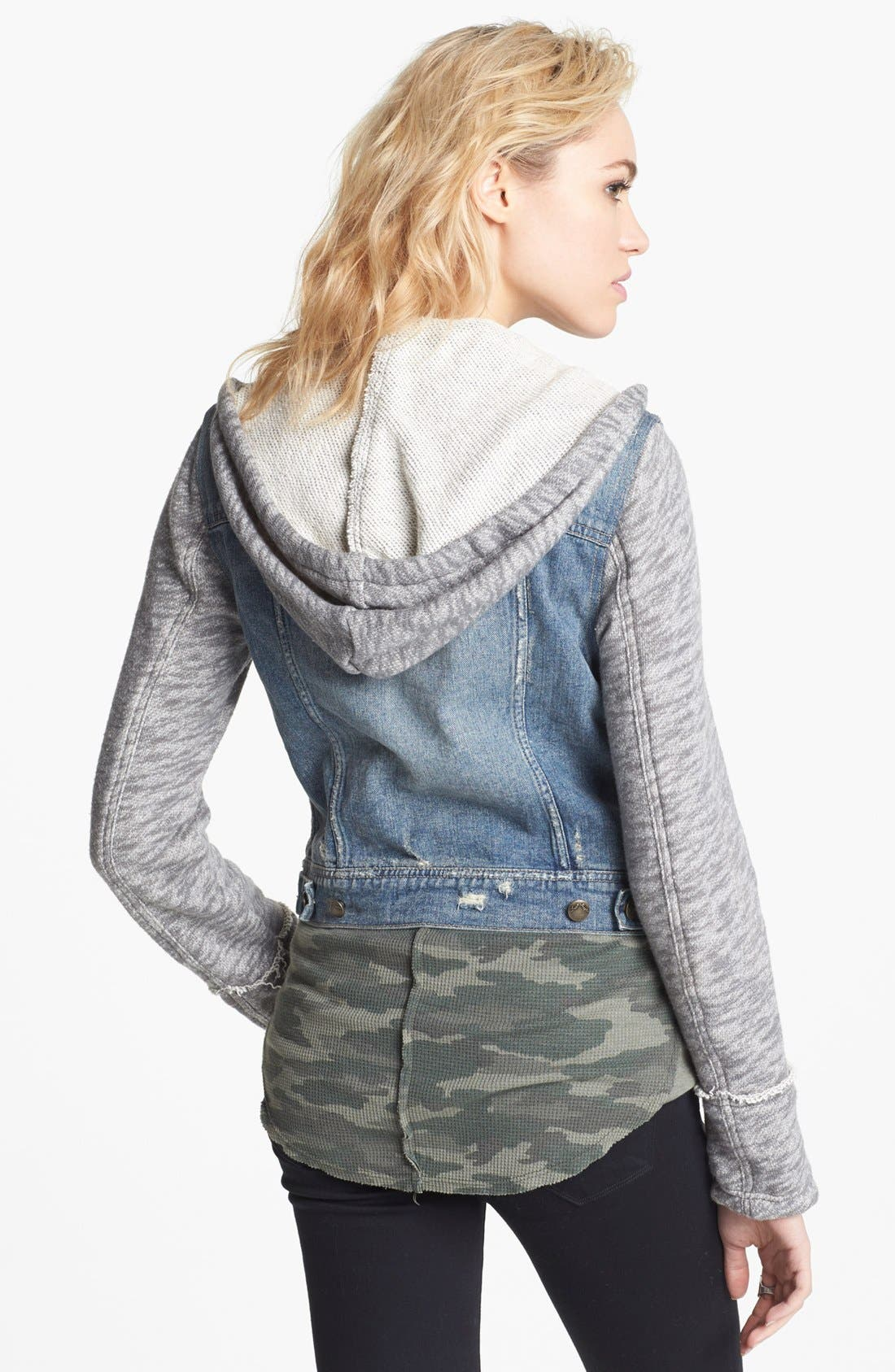 Alternate Image 2  - Free People Denim & Knit Jacket