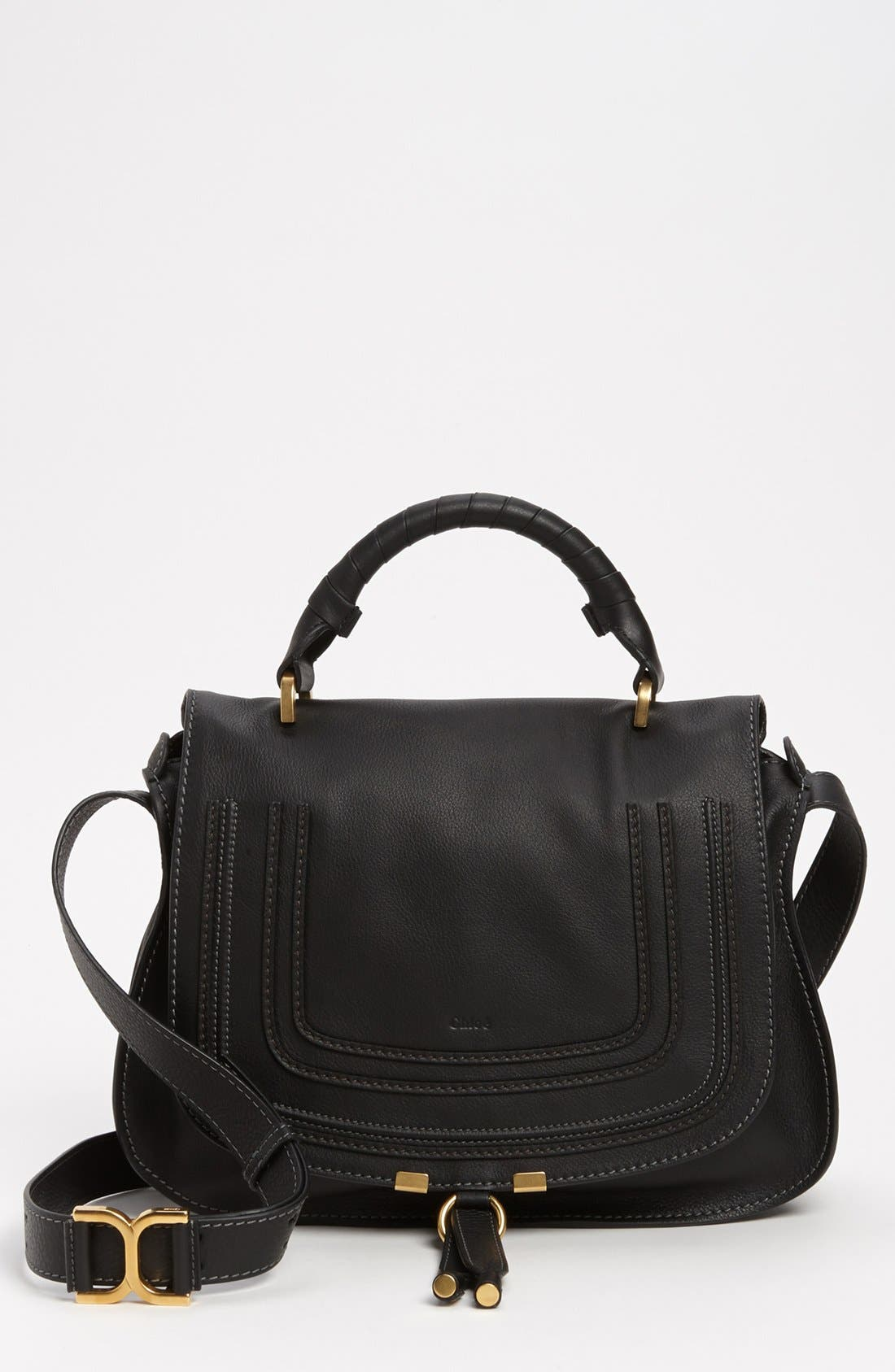 Alternate Image 1 Selected - Chloé 'Marcie' Top Handle Leather Satchel