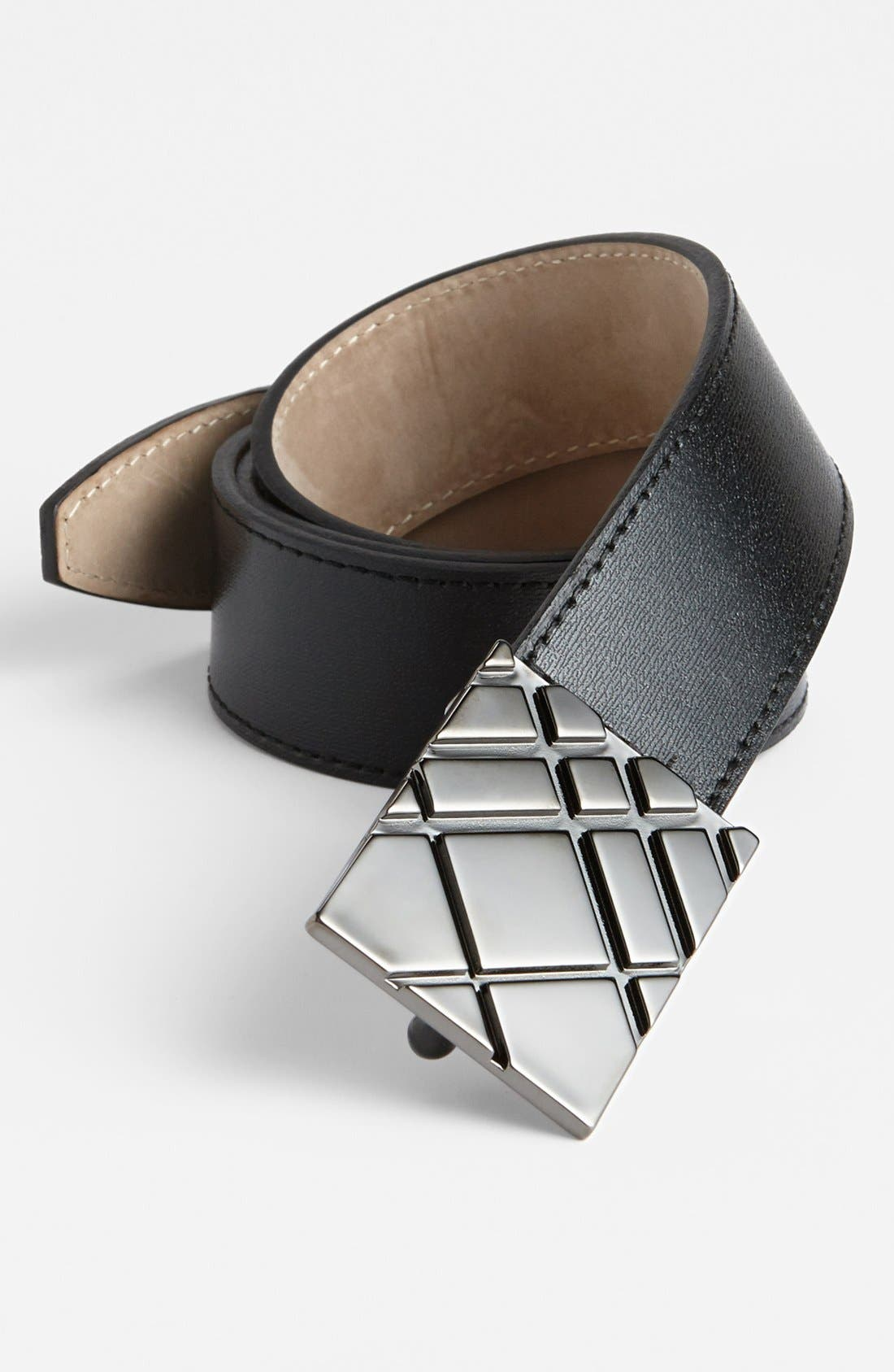 Alternate Image 1 Selected - Burberry 'Derry' Calfskin Leather Belt