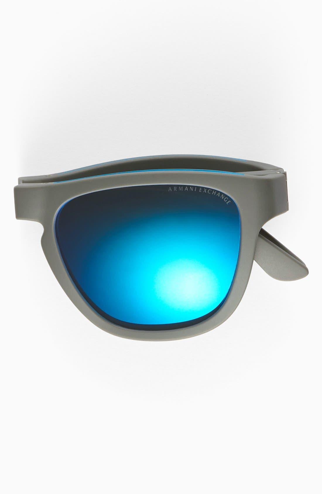 Alternate Image 2  - AX Armani Exchange 54mm Foldable Sunglasses