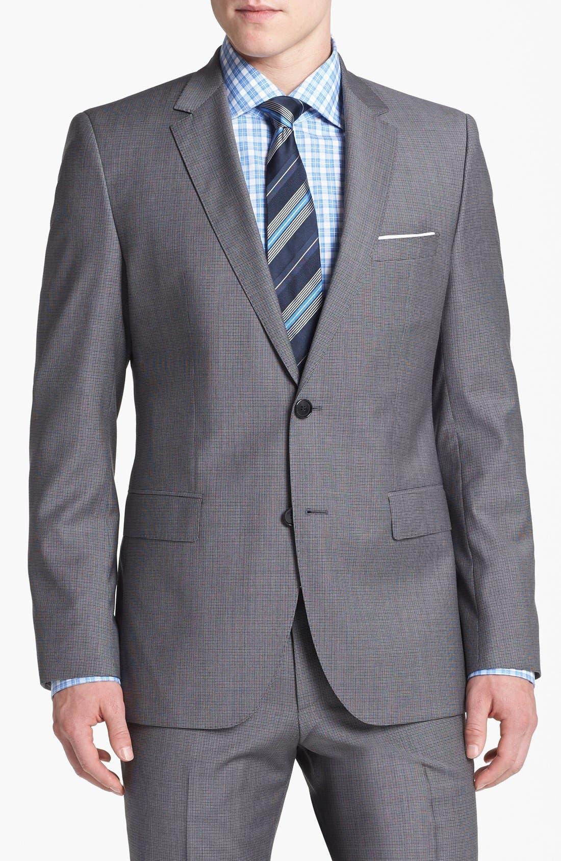 Alternate Image 4  - BOSS HUGO BOSS 'James/Sharp' Trim Fit Houndstooth Suit