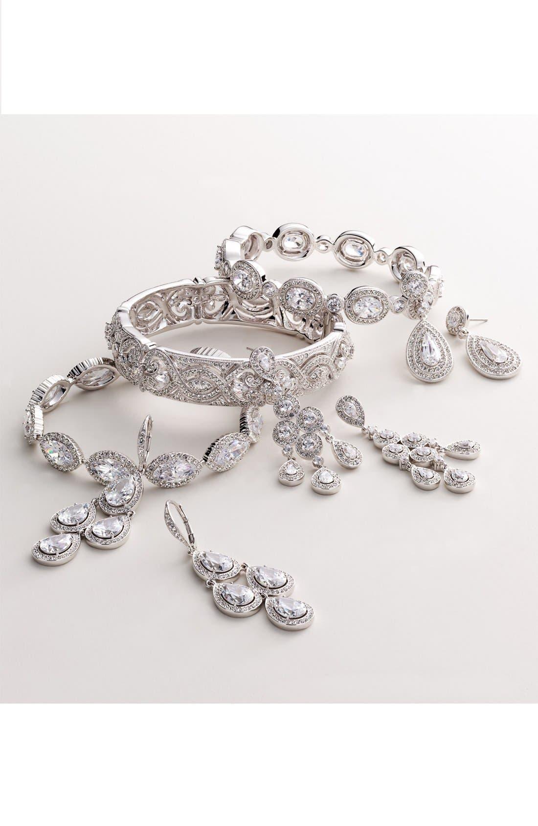 Alternate Image 3  - Nadri Framed Chandelier Earrings