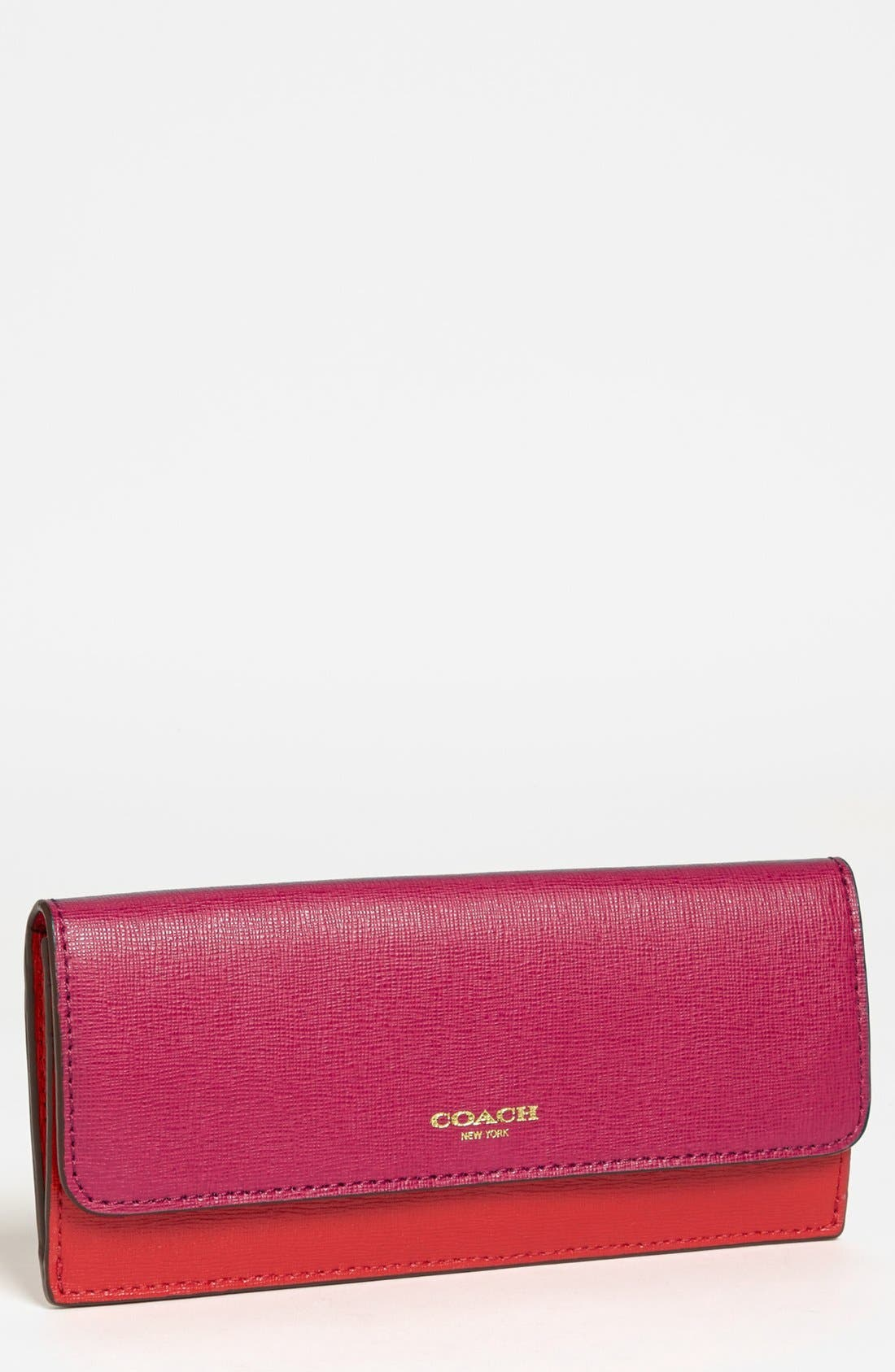 Main Image - COACH Saffiano Leather Wallet
