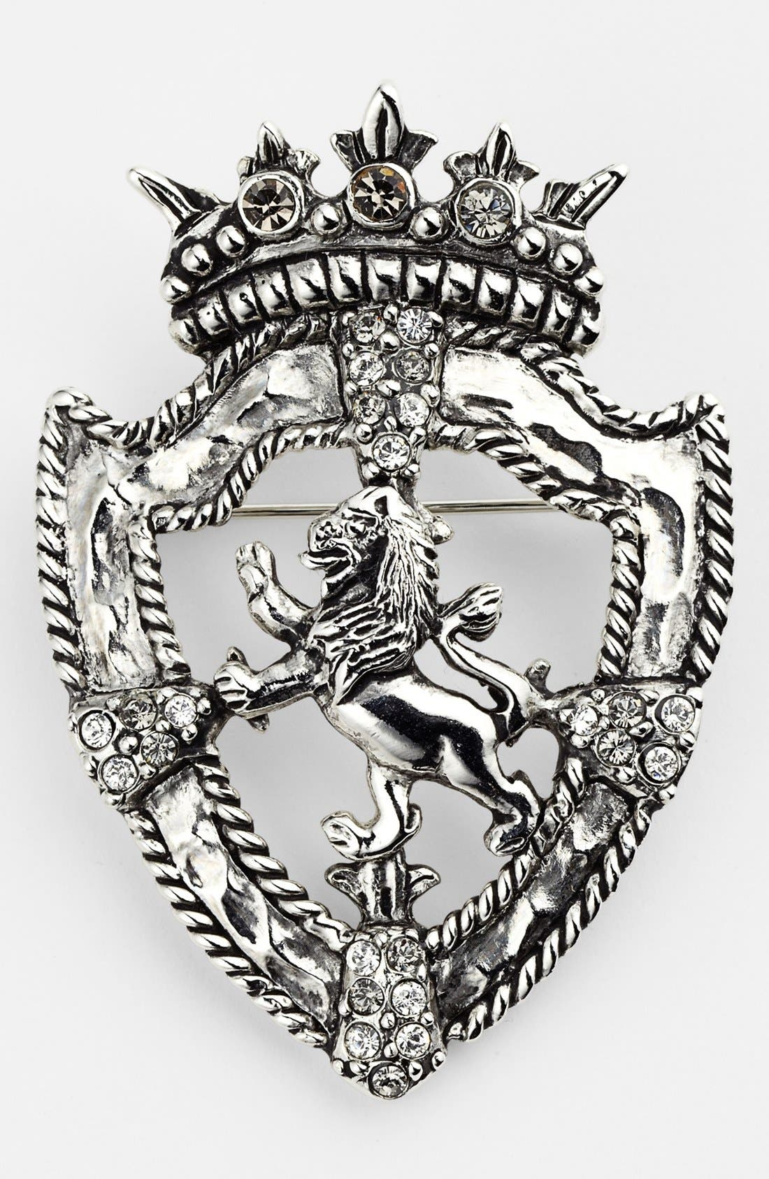 Alternate Image 1 Selected - Nordstrom Lion Shield Brooch