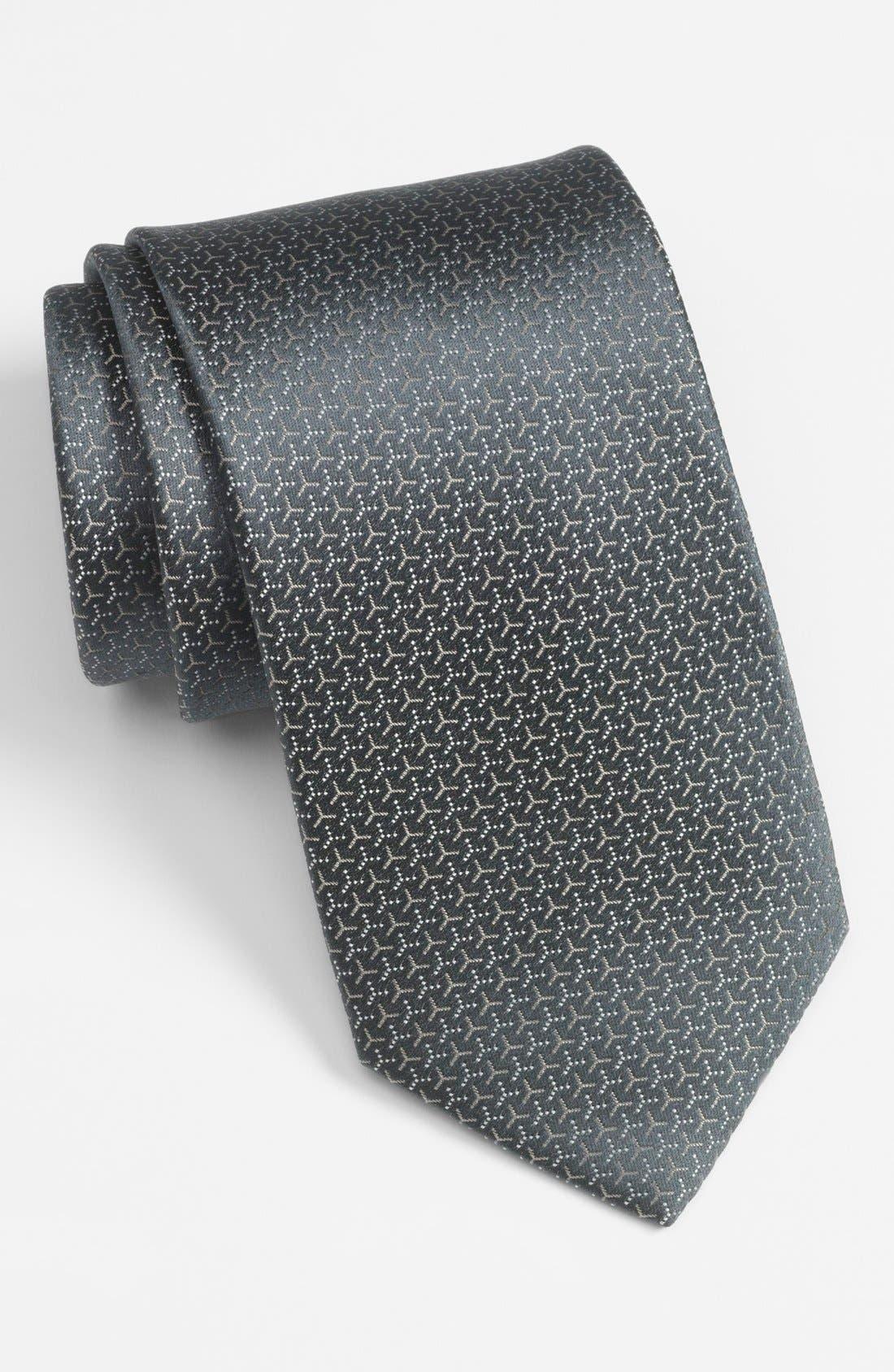 Main Image - Yves Saint Laurent Woven Silk Tie