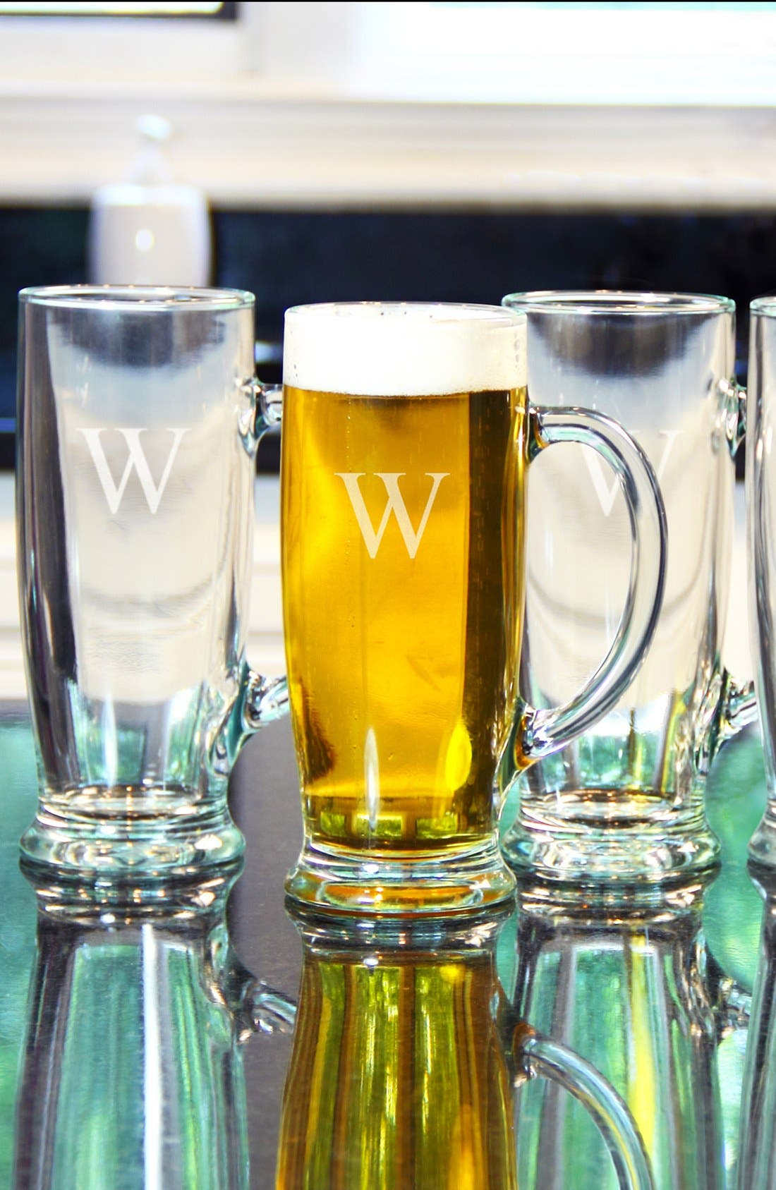 Alternate Image 1 Selected - Cathy's Concepts Personalized Craft Beer Mugs (Set of 4)