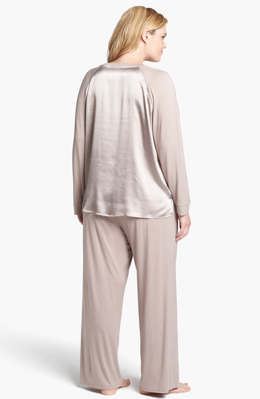 Alternate Image 2  - Midnight by Carole Hochman 'Magic Moment' Pajamas (Plus Size)