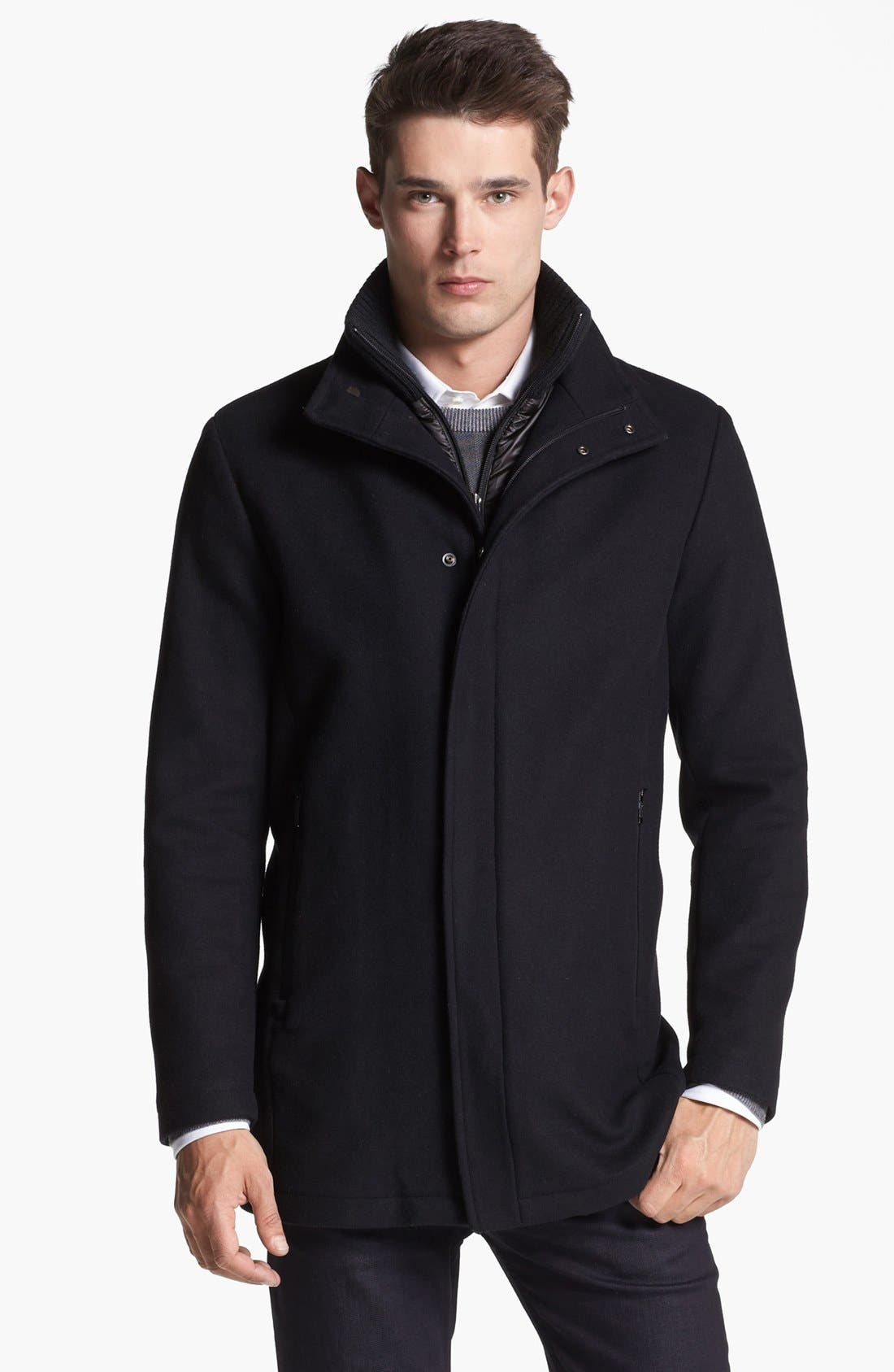 Main Image - Armani Collezioni Wool Blend Winter Jacket