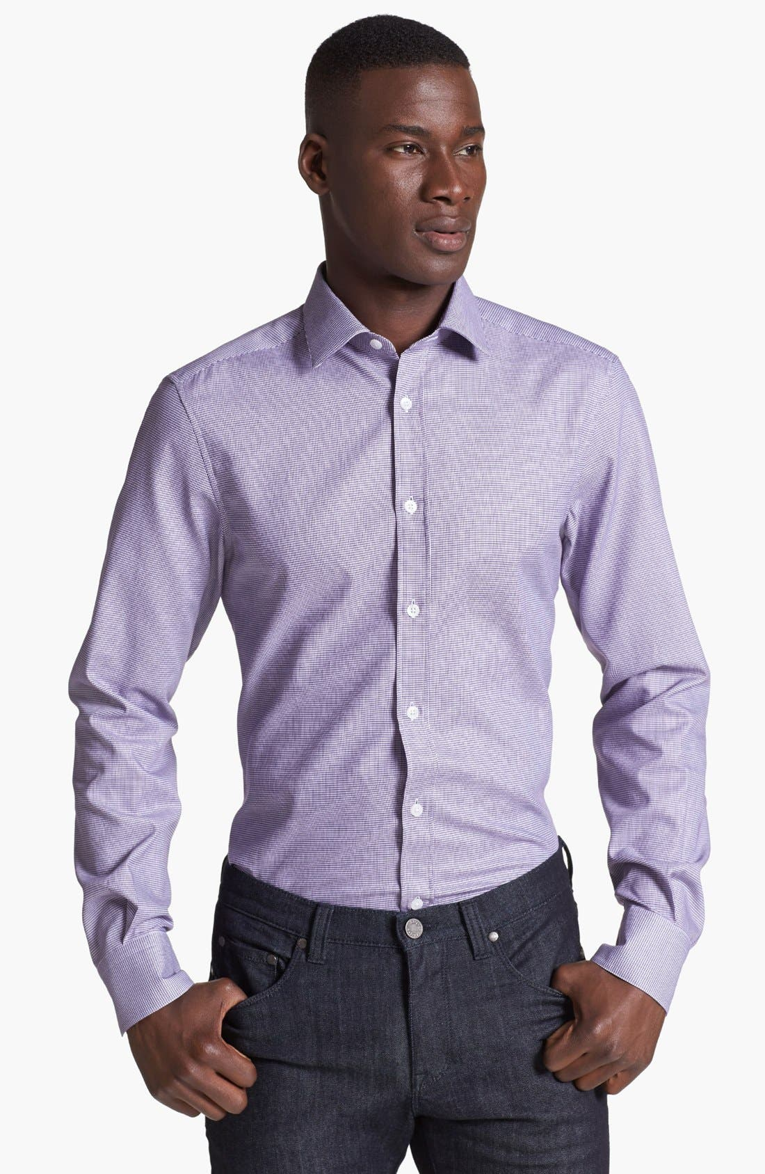 Alternate Image 1 Selected - Z Zegna Jacquard Woven Shirt