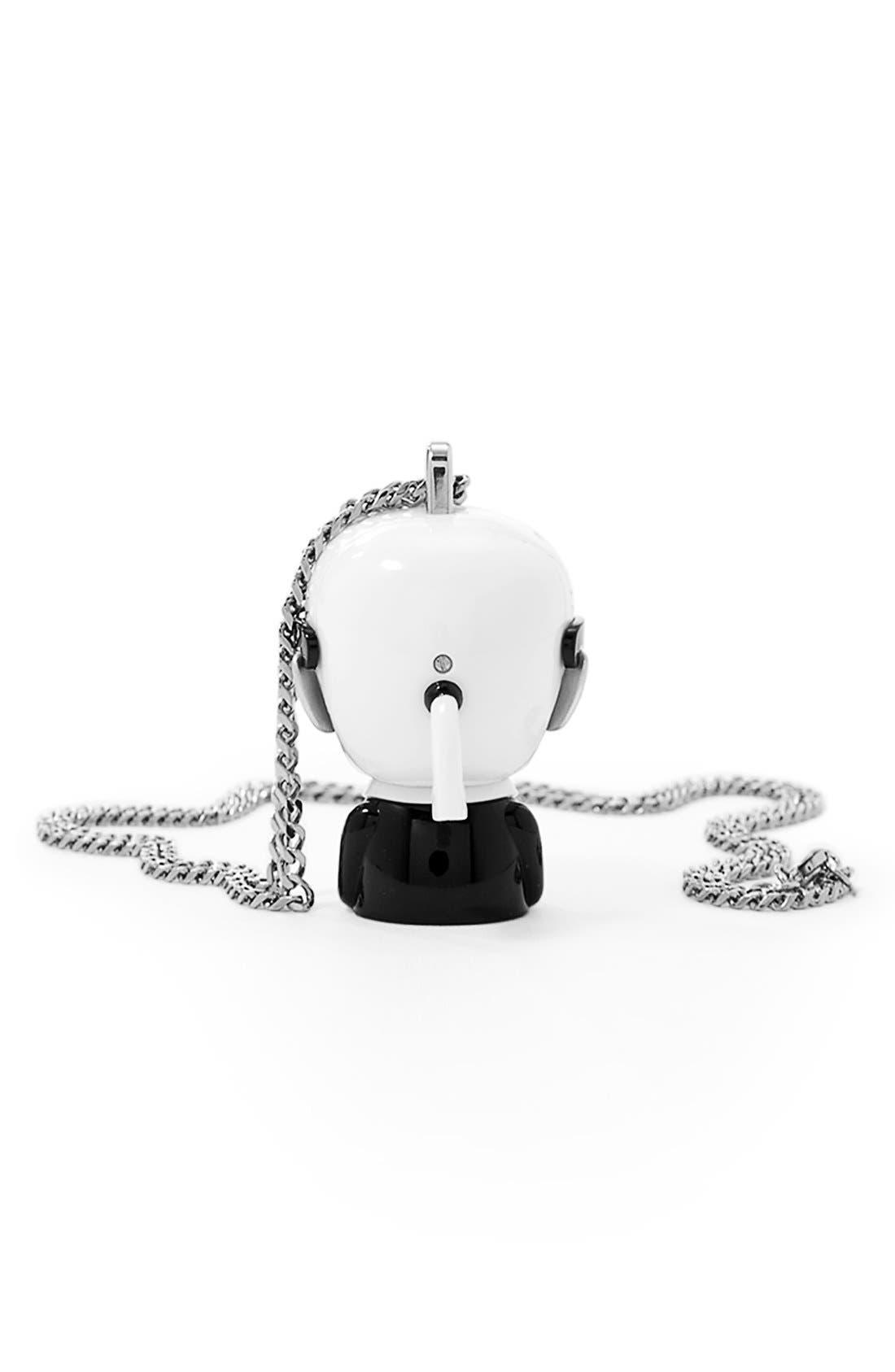 'tokidoki' Digital Necklace Watch, 37mm x 51mm,                             Alternate thumbnail 5, color,                             Silver/ Black/ White