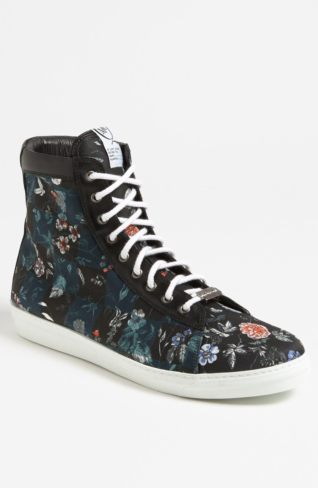 Main Image - McQ by Alexander McQueen Floral High Cut Sneaker
