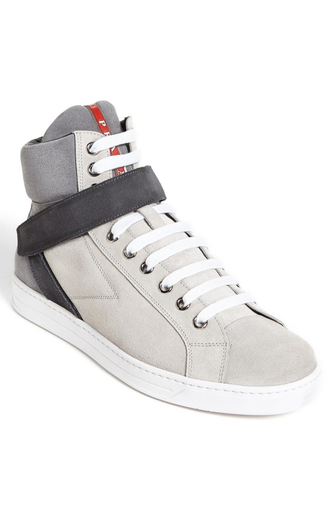 Alternate Image 1 Selected - Prada 'Avenue' High Top Sneaker