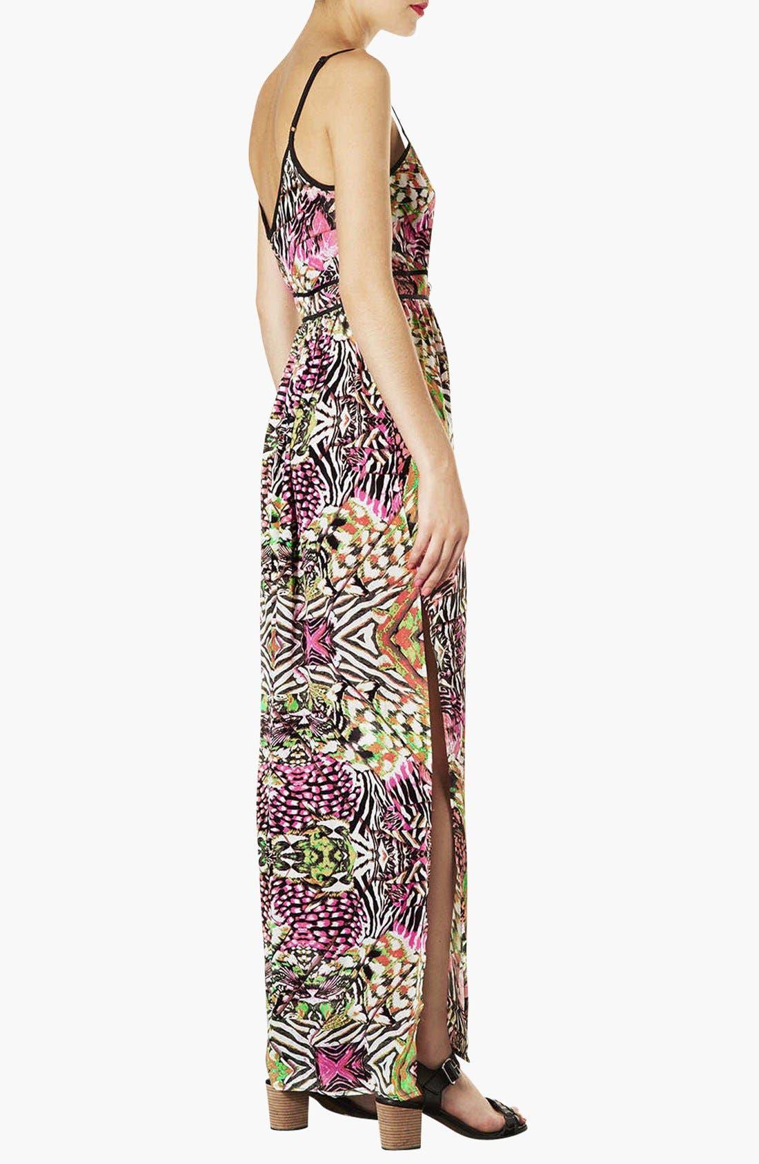Alternate Image 2  - Topshop 'Solarized' Print Maxi Dress
