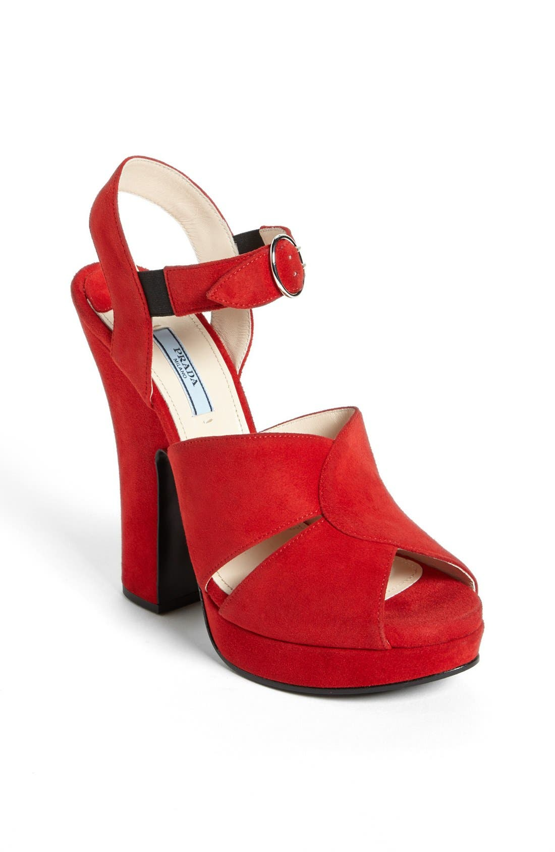 Alternate Image 1 Selected - Prada Quarter Strap Sandal